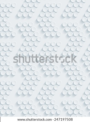 Dark gray perforated paper with cut out effect. Editable vector EPS10. See others in my Perforated Paper Sets. - stock vector