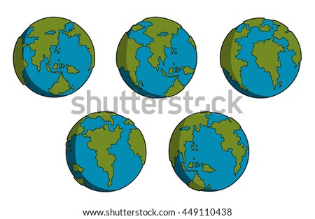 dark green and blue earth movement set