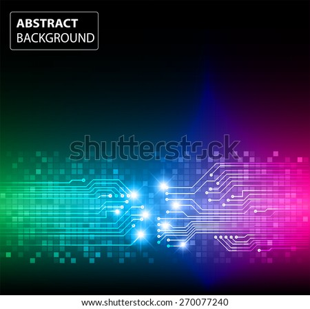 dark green blue pink color Light Abstract Technology background for computer graphic website internet and business. circuit. vector illustration. card. text box. label. banner. star - stock vector