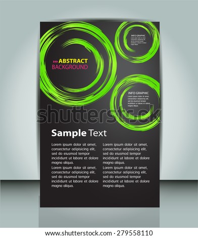 dark green circle Light Abstract Technology background for computer graphic website internet and business. vector illustration. text box. Brochure. card. banner flyer magazine. Design label. black - stock vector