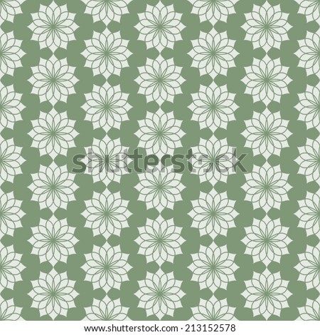 Dark green classic jasmine bloom seamless pattern. Vintage jasmine blossom for old or retro design - stock vector