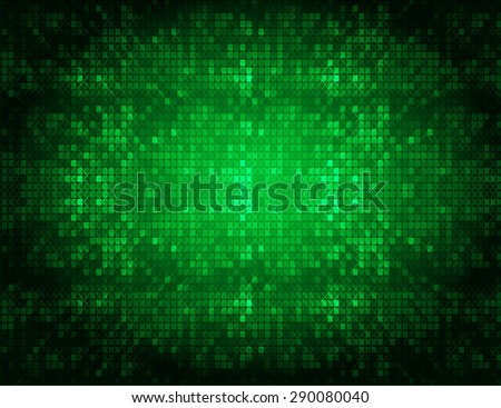 Dark green color Light Abstract pixels Technology background for computer graphic website internet. circuit board. text box, star - stock vector