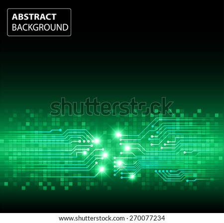 dark green color Light Abstract Technology background for computer graphic website internet and business. circuit. vector illustration. card. text box. label. banner. star
