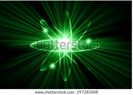 Dark green color Light Abstract Technology background for computer graphic website internet.circuit. vector illustration.Nuclear,proton,neutron,nucleus. atom. molecular.Spark ray beam aura - stock vector