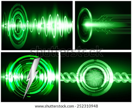 Dark green Light Abstract Technology background for computer graphic website internet. circuit.