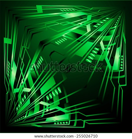 Dark green Light Abstract Technology background for computer graphic website internet. circuit