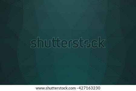 Dark green polygonal illustration, which consist of triangles. Triangular design for your business. Geometric background in Origami style with gradient. - stock vector
