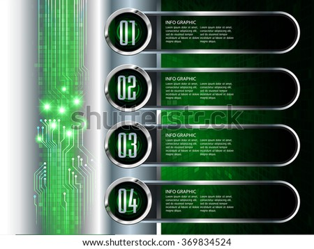 Dark green silver Web Design Website Elements Template for graphic internet. text box. label. infographics. metal. card. pixel. Metals, alloys, steel, aluminum. button cyber