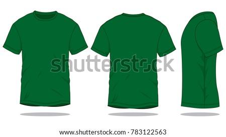dark green t shirt template front back stock vector 783122563