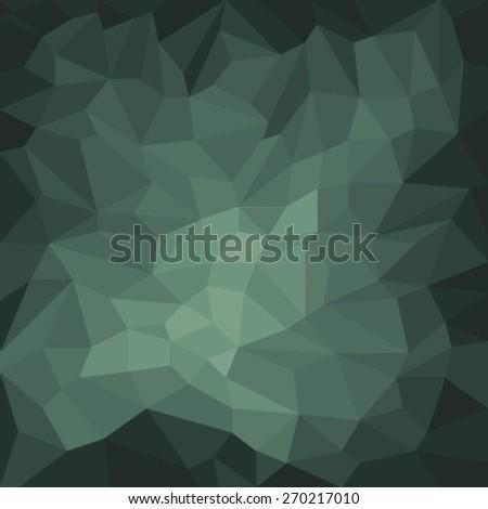 dark green triangles pattern - stock vector