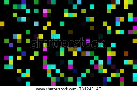 Dark Green vector pattern. Brand-new rectangular template. Shining geometric sample. Repeating theme with rectangular shapes. Texture for your design.