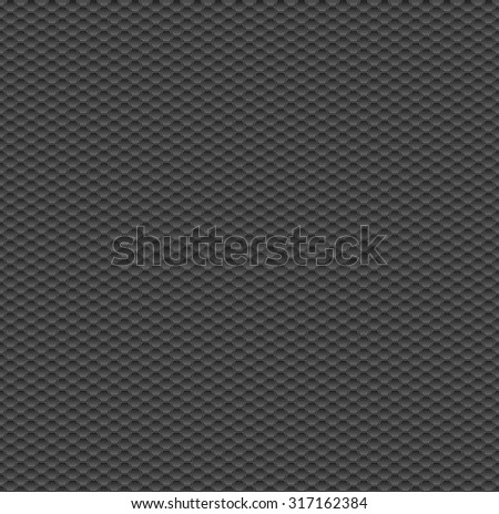Dark Grey Seamless Pattern with Hexagons. Vector Texture.