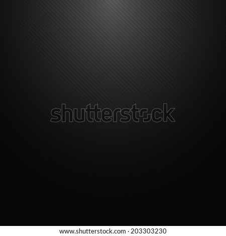Dark metallic texture, straight diagonal lines, vector background - stock vector