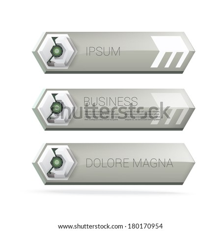 Dark monotone green edition of robot style text box composition with hexagonal cybernetics panel design and. Clean layout concept for print, banner, price tag, info graphics element or sci fi vector.  - stock vector