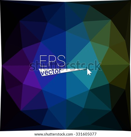 dark multicolor black blue yellow green red orange geometric rumpled triangular low poly style gradient illustration graphic background. Vector polygonal design for your business.
