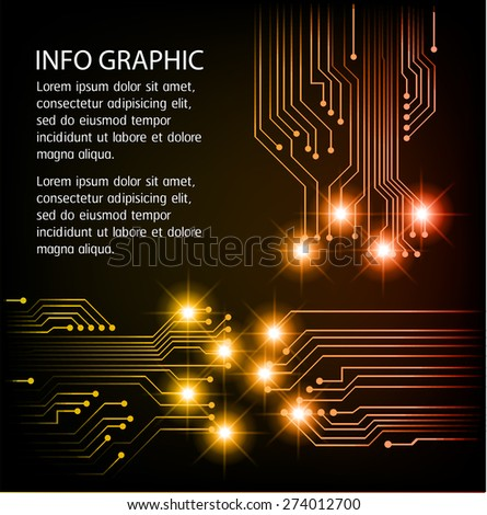 dark orange Light Abstract Technology background for computer graphic website internet and business. circuit. illustration. infographics. text box. Brochure. card. banner flyer magazine. label.