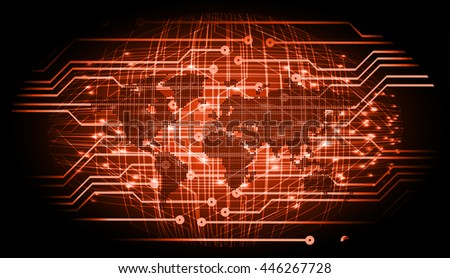dark orange Light Abstract Technology background for computer graphic website internet and business. circuit. illustration. digital. infographics. binary code. www. vector. cyber world - stock vector