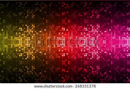 Dark orange red pink color Light Abstract pixels Technology background for computer graphic website internet. circuit board. text box. Mosaic, table - stock vector