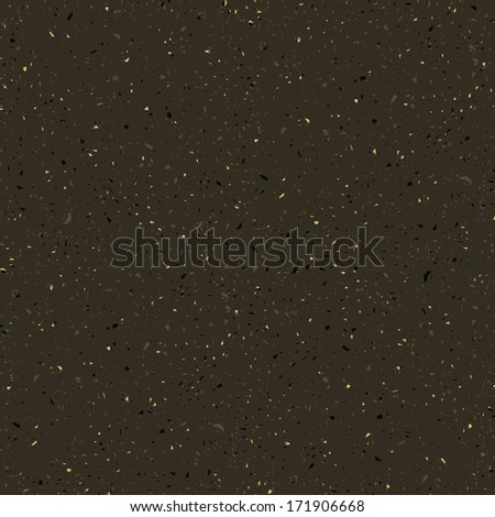 Dark paper seamless vector texture background with particles of debris - stock vector