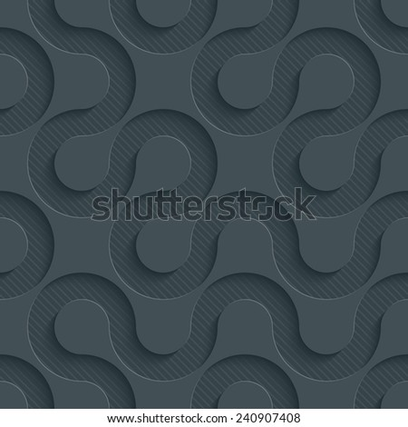 Dark perforated paper with cut out effect. See others in a Perforated Paper Set. Vector EPS10. - stock vector