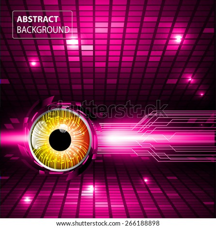 dark pink color Light Abstract Technology background for computer graphic website internet and business. circuit. silver. orange eye. Pixel, mosaic, table