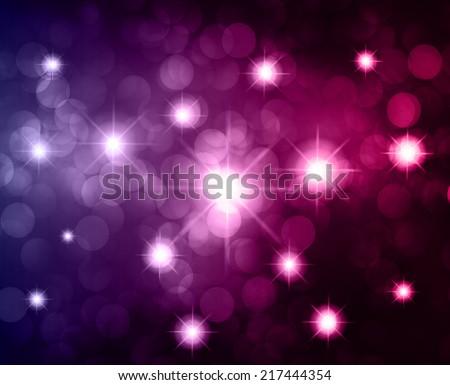 Dark pink Defocused Light, Flickering Lights, Vector abstract festive background with bokeh defocused lights. universe, galaxies, stars. - stock vector