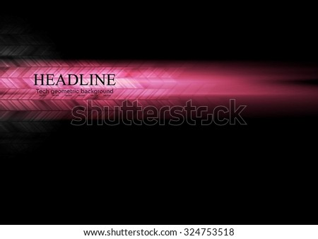 Dark pink glowing abstract tech background. Vector illustration - stock vector