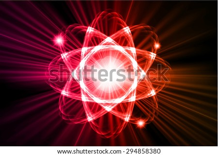 dark pink red orange color Light Abstract Technology background for computer graphic website internet.circuit.vector illustration. Nuclear,proton, neutron, nucleus. atom. molecular.Spark ray beam aura - stock vector