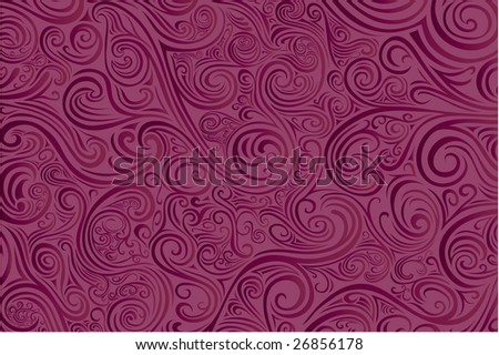Dark Pink Scrollwork -- check out my other vectors