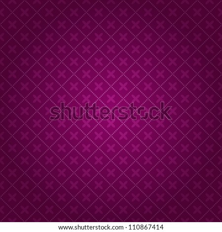 Dark Purple Blurred Geometric Seamless Background. Vector Pattern - stock vector