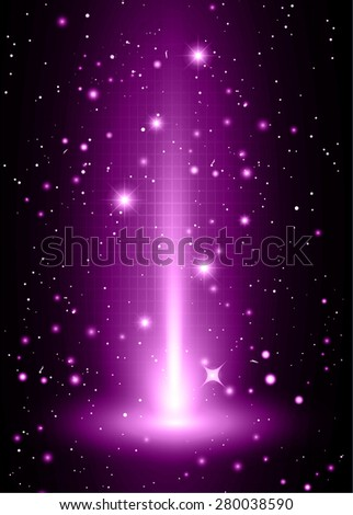 Dark purple light Abstract background, rays. stage. infographics. star. Light Technology background for computer graphic website internet and business. vector illustration - stock vector