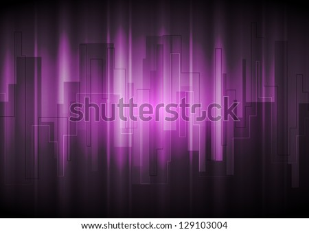 Dark purple modern background. Vector design eps 10 - stock vector