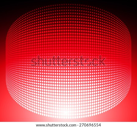 Dark red Abstract light lamps background for Technology computer graphic website internet and business.. Screen on stage. Vector illustration. Spot Effect. neon. point. dot - stock vector