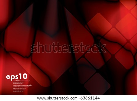Dark red background with color gradient for brochure - stock vector