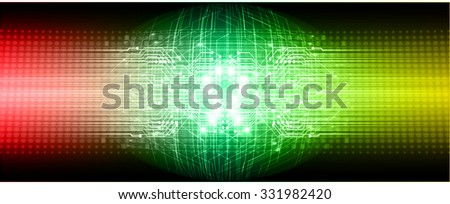 dark red green yellow color Light Abstract Technology background for computer graphic website internet and business. circuit. vector illustration. abstract. infographics. motion move blur.neon, Global - stock vector