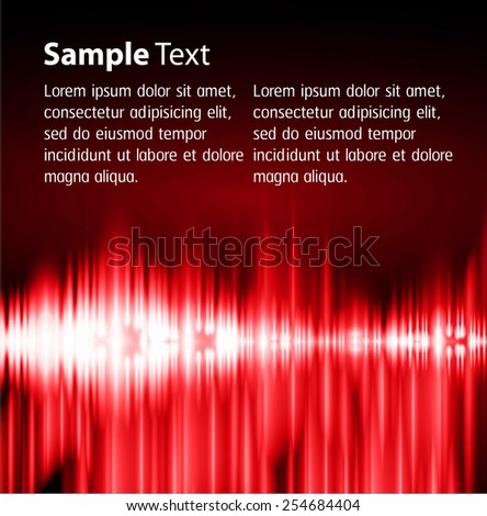 Dark red Light Abstract Technology background for computer graphic website internet. text box. Brochure. Sound waves