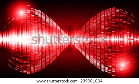 Dark red Light Abstract Technology background for computer graphic website internet. wave - stock vector