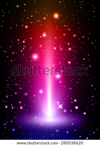 Dark red pink blue light Abstract background, rays. stage. infographics. star. Light Technology background for computer graphic website internet and business. vector illustration - stock vector