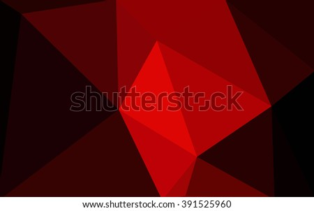 Dark red polygonal illustration, which consist of triangles. Geometric background in Origami style with gradient. Triangular design for your business. - stock vector