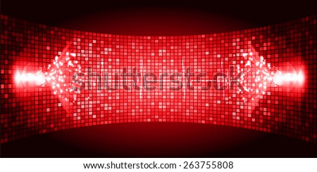 Dark red  Sound wave background suitable as a backdrop for music, technology and sound projects. Heart pulse monitor with signal. Heart beat. - stock vector