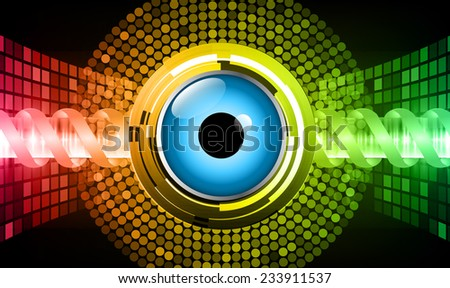 Dark red yellow green Light Abstract Technology background for computer graphic website internet. circuit. eyes