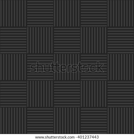 Dark relief material texture pattern background like a  soundproofing material . Abstract geometric lines. Vector illustration