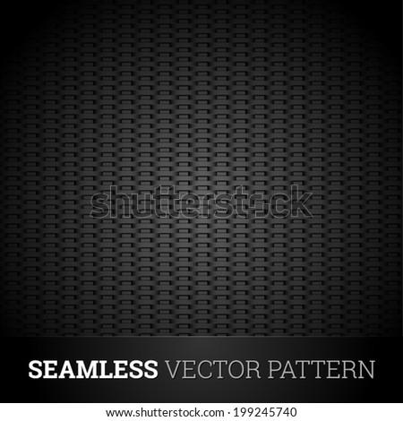 Dark seamless vector pattern - stock vector