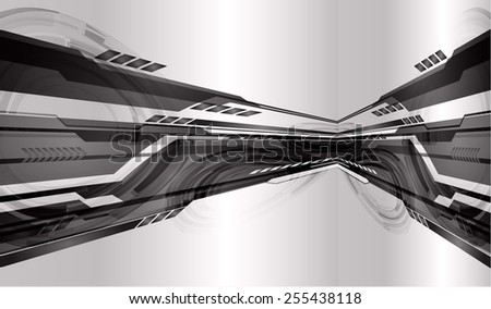 Dark silver black color Light Abstract Technology background for computer graphic website internet.