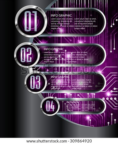 dark silver black purple Web Design Website Elements Template for graphic internet. text box. label. infographics. metal. card. pixel. Metals, alloys, steel, aluminum. button - stock vector