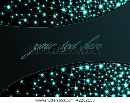 Dark sparkly background, horizontal (vector); JPG version also available - stock vector