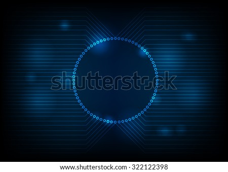 Dark technology circuit board design. Vector background - stock vector
