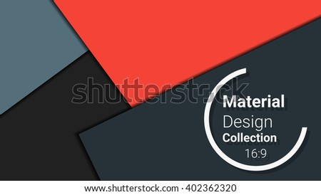 dark template for presentation in 16:9 format. vector illustration. designed for business background, education, web, brochure. abstract creative concept layout template in red, grey, black colors. - stock vector