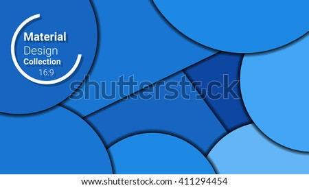 dark template for presentation in 16:9 format. vector illustration. designed for business background, education, web, brochure. abstract creative concept layout template in blue colors. - stock vector