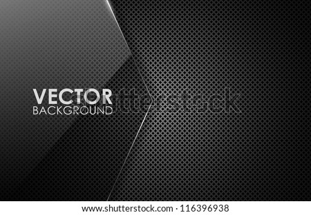 Dark vector card - stock vector